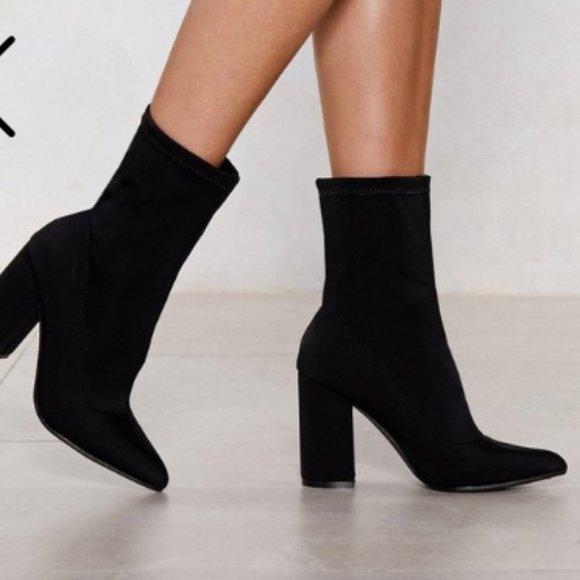 Nasty Gal Sock It to Me Heeled Boot